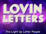 Lovin Letters LED Lights €250